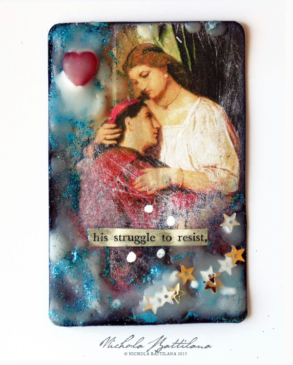 Star Crossed Lovers for AlphaStamps.com - Nichola Battilana
