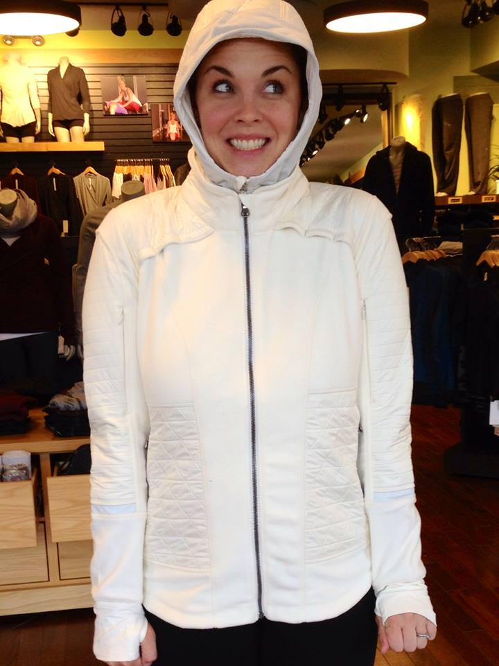 fleecy keen white jacket