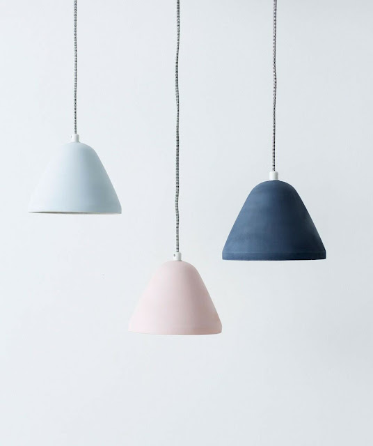 Milk & Sugar Finn Concrete Pendants