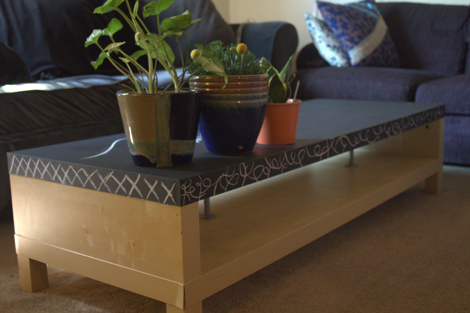 Makeover Monday Chalkboard Coffee Table
