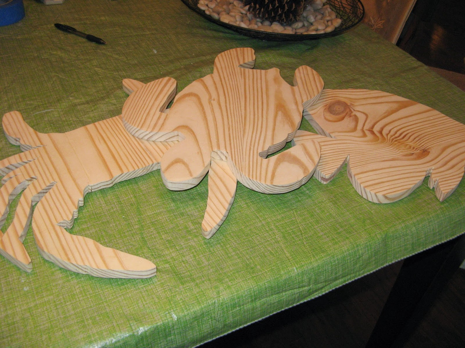 SEA CREATURE DECOR - Wood Cut Outs