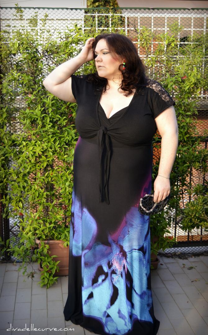 outfit plus size con maxidress igigi