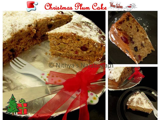 Christmas Plum Cake | Alcohol Free Cake
