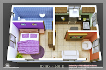 3D Small House Floor Plan Design