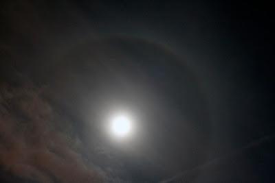 halo around moon Indiana