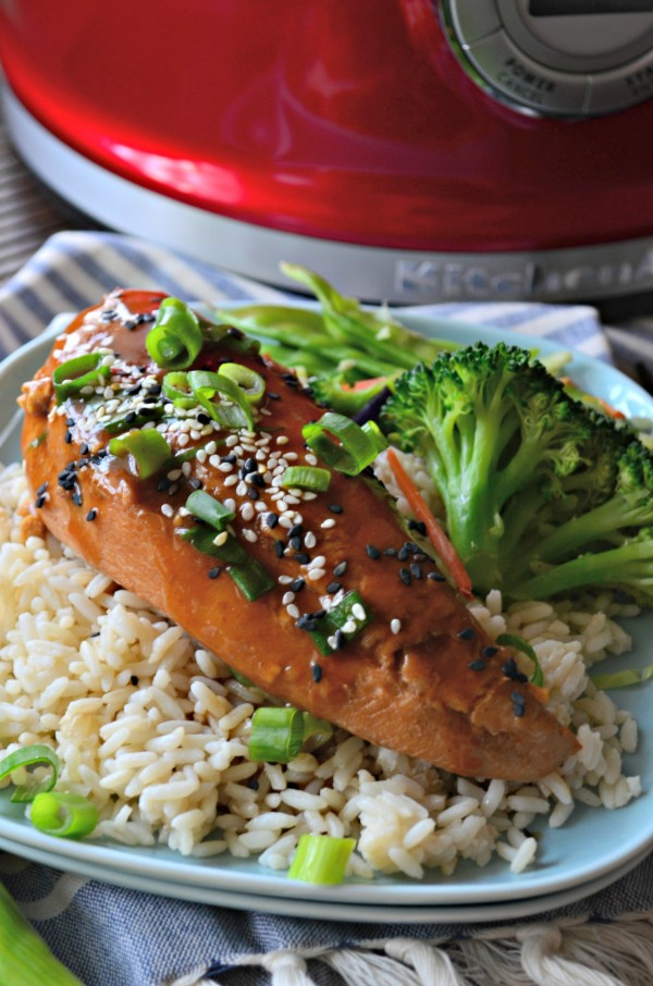 Slow Cooker Sesame Ginger Chicken from Katie's Cucina