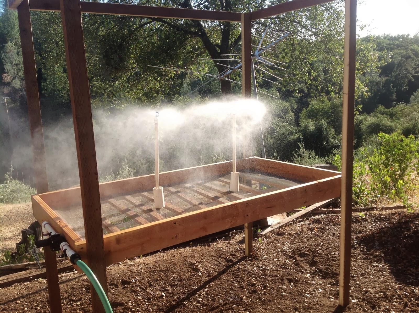 Propagation Misting Systems : The olive curve propagation mist system