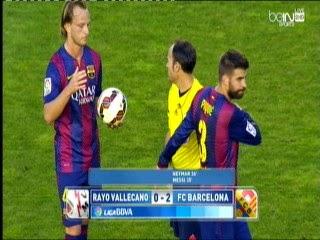 اهداف مباراة رايو فاليكانو و برشلونة 2-0  rayo vallecano vs barcelona- GOLAS