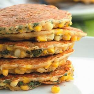 corn & basil cakes recipe from eating well