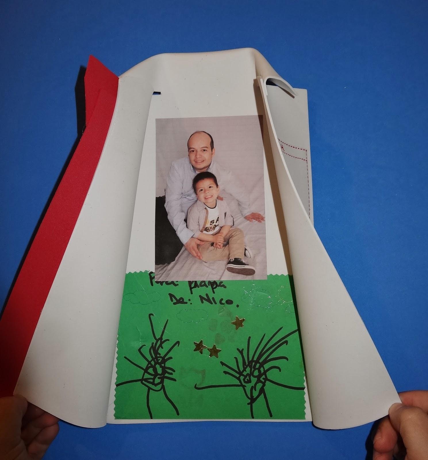 Taller infantil goma eva tarjeta d a del padre espacio for Sobres de goma eva