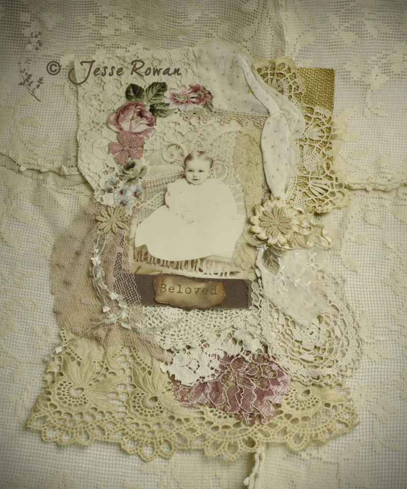 vintage baby collage