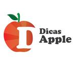 descrição da imagem: a logomarca do blog Dicas Apple. Uma maçã vermelha e sobre ela um talo e uma folha verde. Do meio até a metade do lado direito, a letra D em maiúsculo e em branco. Ao lado, escrito em preto, em duas linhas Dicas Apple. Fim da descrição.