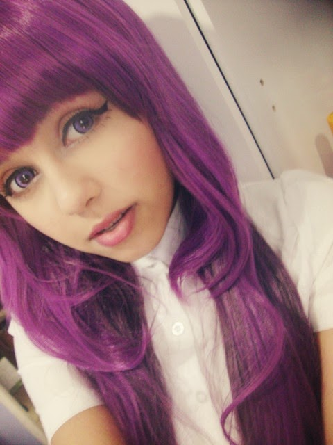 Lolita Wig AI (Purple) Helps you Get into a Damsel Makeover