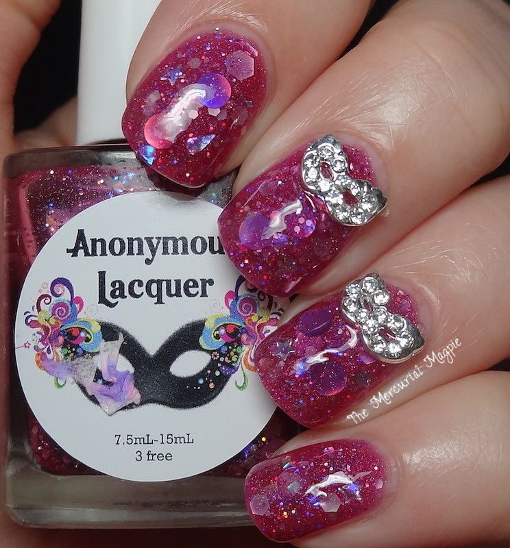 Anonymous Lacquer Samhain's Moon with Masquerade Mask Studs