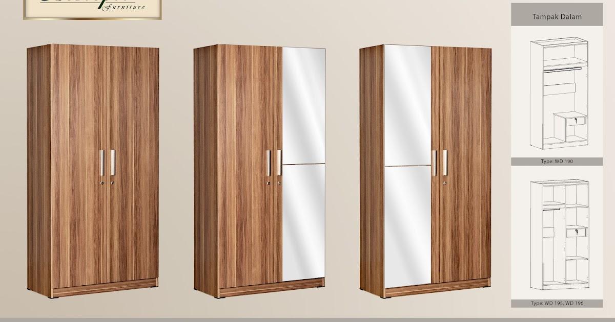 Lemari baju 2 pintu cermin polos lemari pakaian murah for Pintu kitchen set