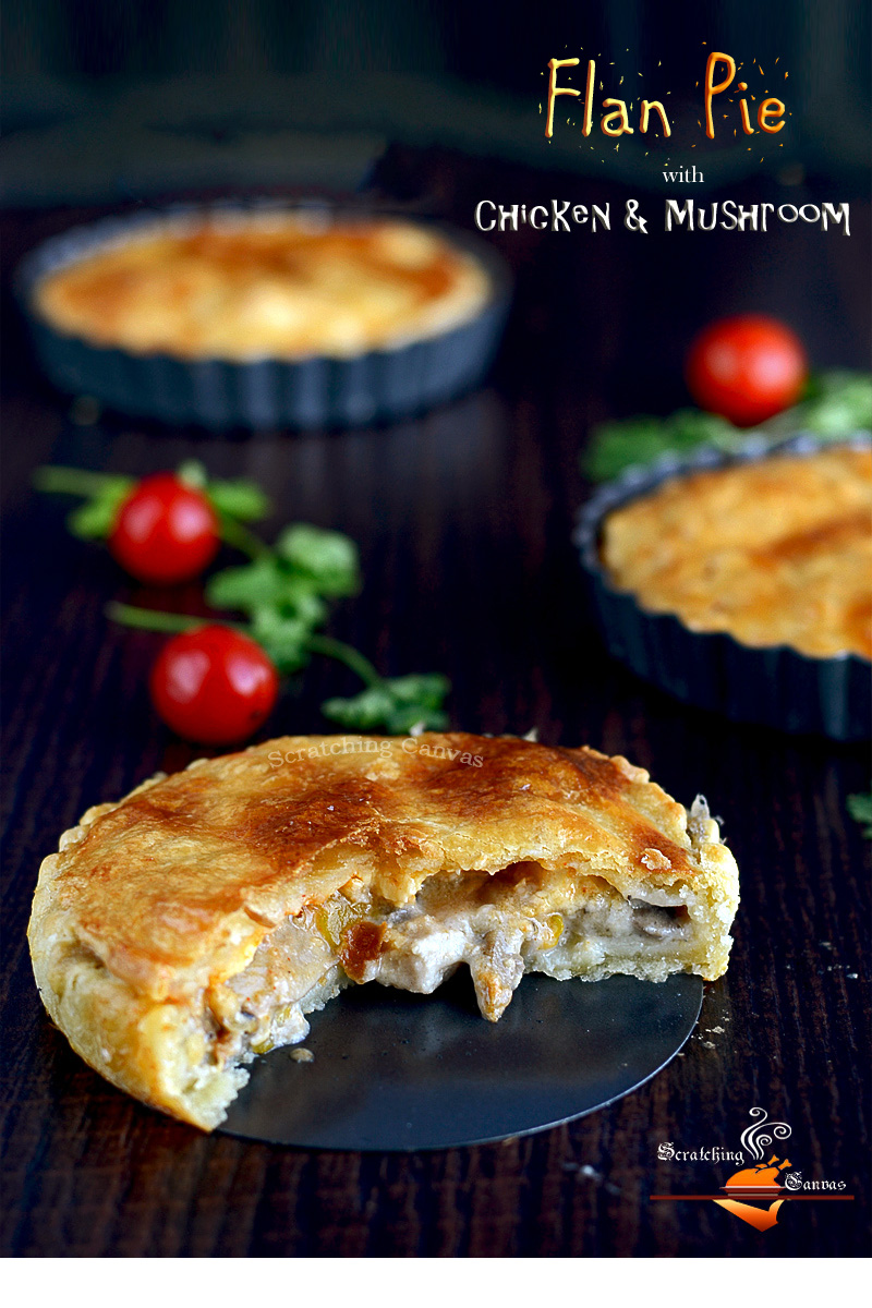Flan Pie with Chicken Mushroom