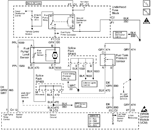 Fuel Tank Pressure Sensor Circuit With Explanation