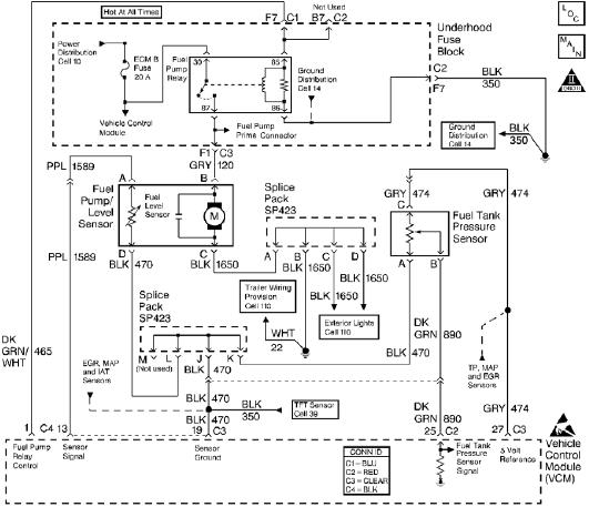 Fuel Tank Pressure Sensor Circuit With Explanation