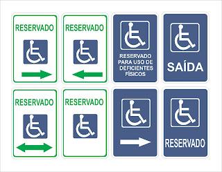 Identificação para Cadeirantes.