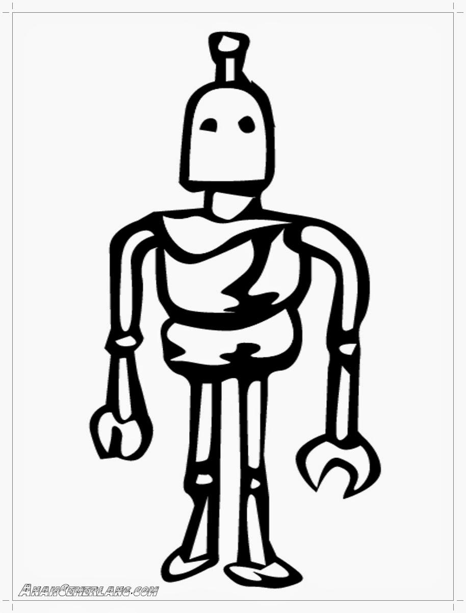 gambar mewarnai robot alien