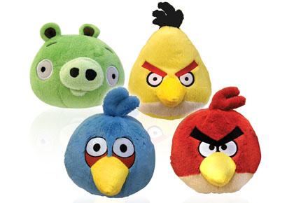 Moldes de Peluches de Angry Birds (Pájaros furiosos)