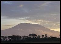 lawu mountain from far