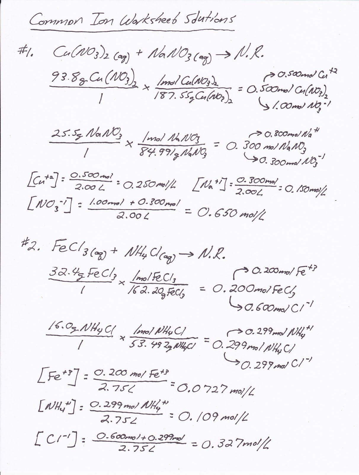 Solution Chemistry Worksheet Free Worksheets Library – Solution Stoichiometry Worksheet