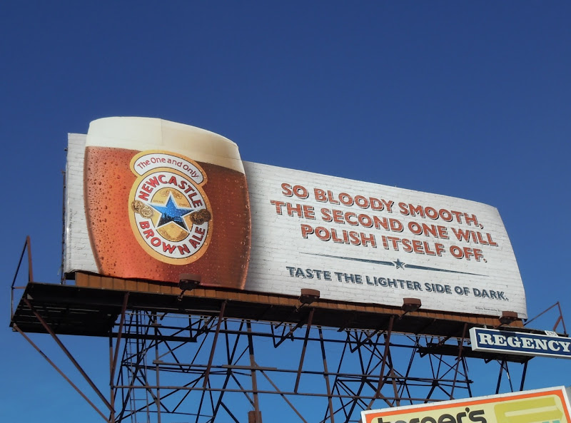 Newcastle Brown bloody smooth billboard