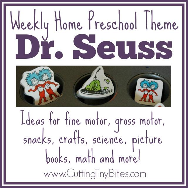 preschool dr seuss lesson plans dr seuss theme weekly home preschool cutting tiny bites 809