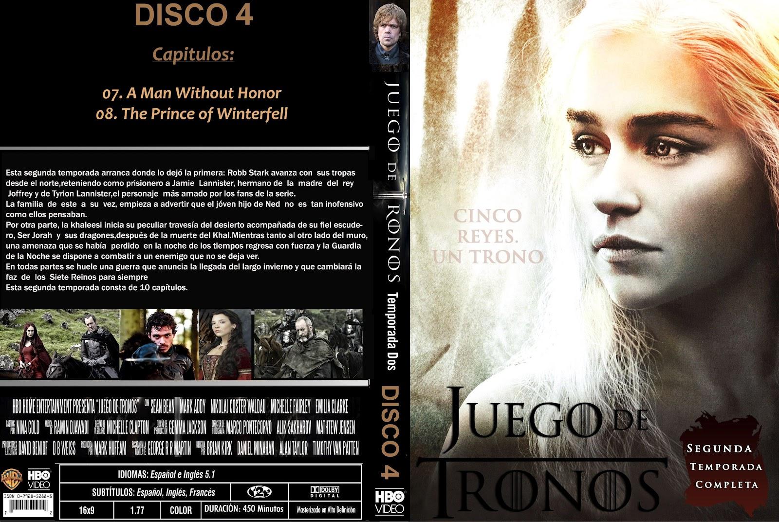MANIA DIGITAL: Juego de Tronos - Temporada 2 - Disco 4 (2012)