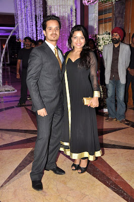 Abhijeet at Sunidhi Chauhan's wedding reception