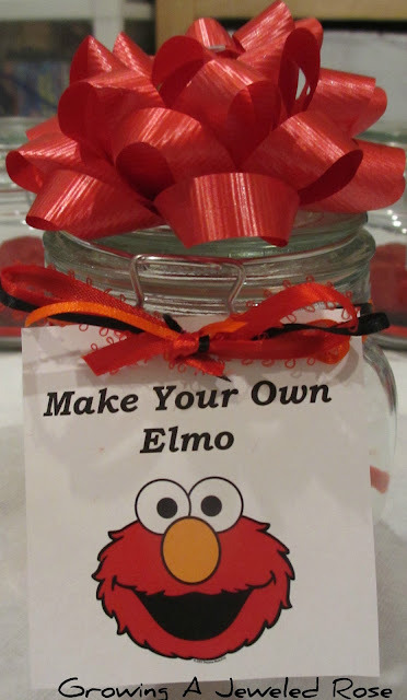 Elmo party favors homemade party favors