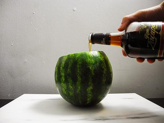 Gastronomista Watermelon Rum Bomb Cocktail