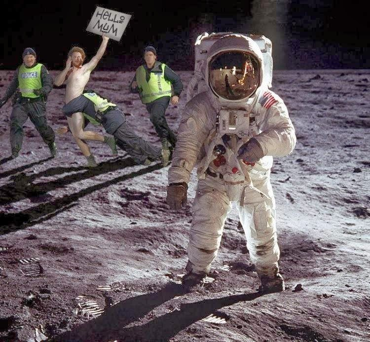 the first landing on the moon essay The apollo moon landing wasn't supposed to be broadcast, until a  it was one  of the first grand, extended global social media events of our.