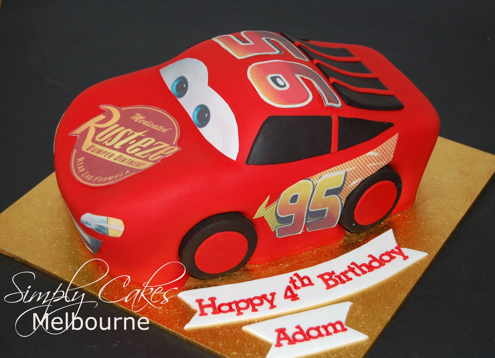 Cooking In Melbourne Lightning Mcqueen Car cake