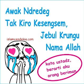 DP BBM Islami Terbaru, Awak Ndredeg Tak Kiro Jatuh Cinta