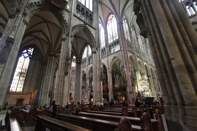 The side view of the choir at the main stage at Cologne Cathedral in Cologne, Germany