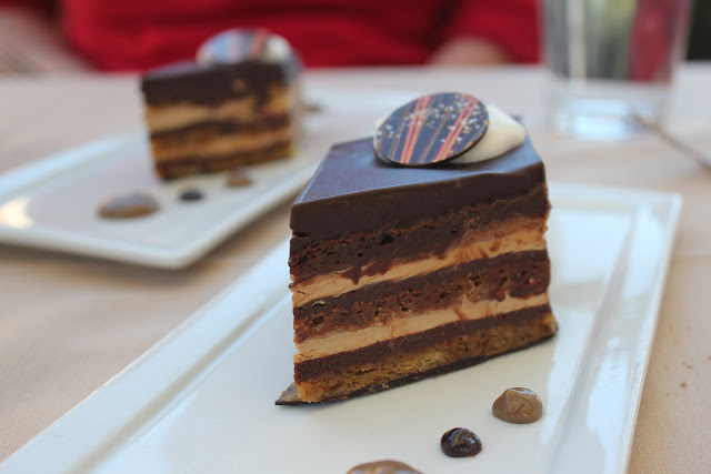 Opera cakes at Ponte Family Estate Winery, Temecula, Calif.