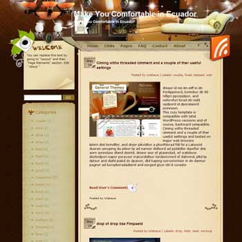 Make You Comfortable in Ecuador Blogger Template. free download template blogspot