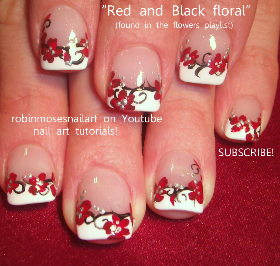 Nail art design prom nails red black prom nails prom nails 2012 prom nails red black prom nails prom nails 2012 daisy nails daisy nail art spring nail art red flower nails short nail prom cute prom ideas nail prinsesfo Image collections