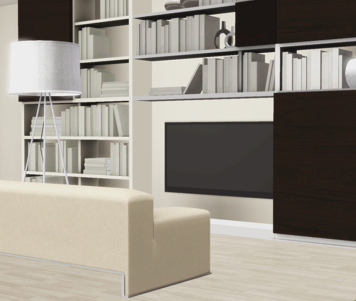 Very Impressive portraiture of My Sims 3 Blog: Bookshelves & Sofa Set by Nicky with #766B55 color and 1210x1024 pixels