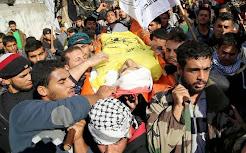 Funérailles de Odah Hamad (27 ans) à Beit Hanoun (bande de Gaza)