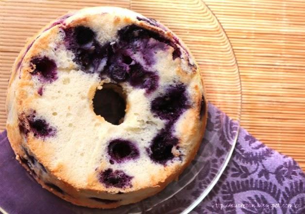 Receta de Angel Food Cake de arándanos / Recepta d'Angel Food Cake de nabius