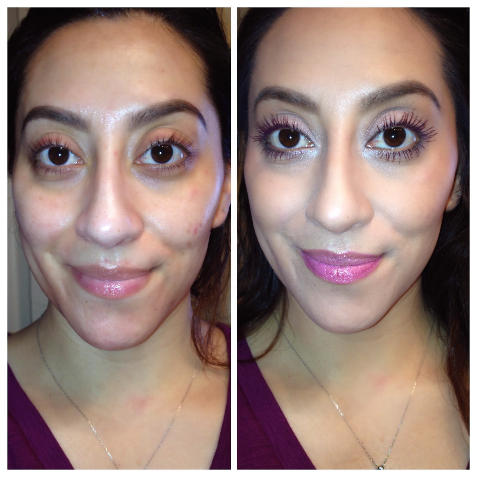 Clinique Beyond Perfecting Foundation and Concealer before/after