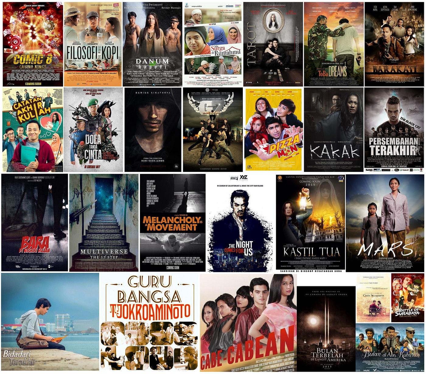 Daftar Film Indonesia Rilis Bioskop Tahun 2015 - Arie Pinoci™
