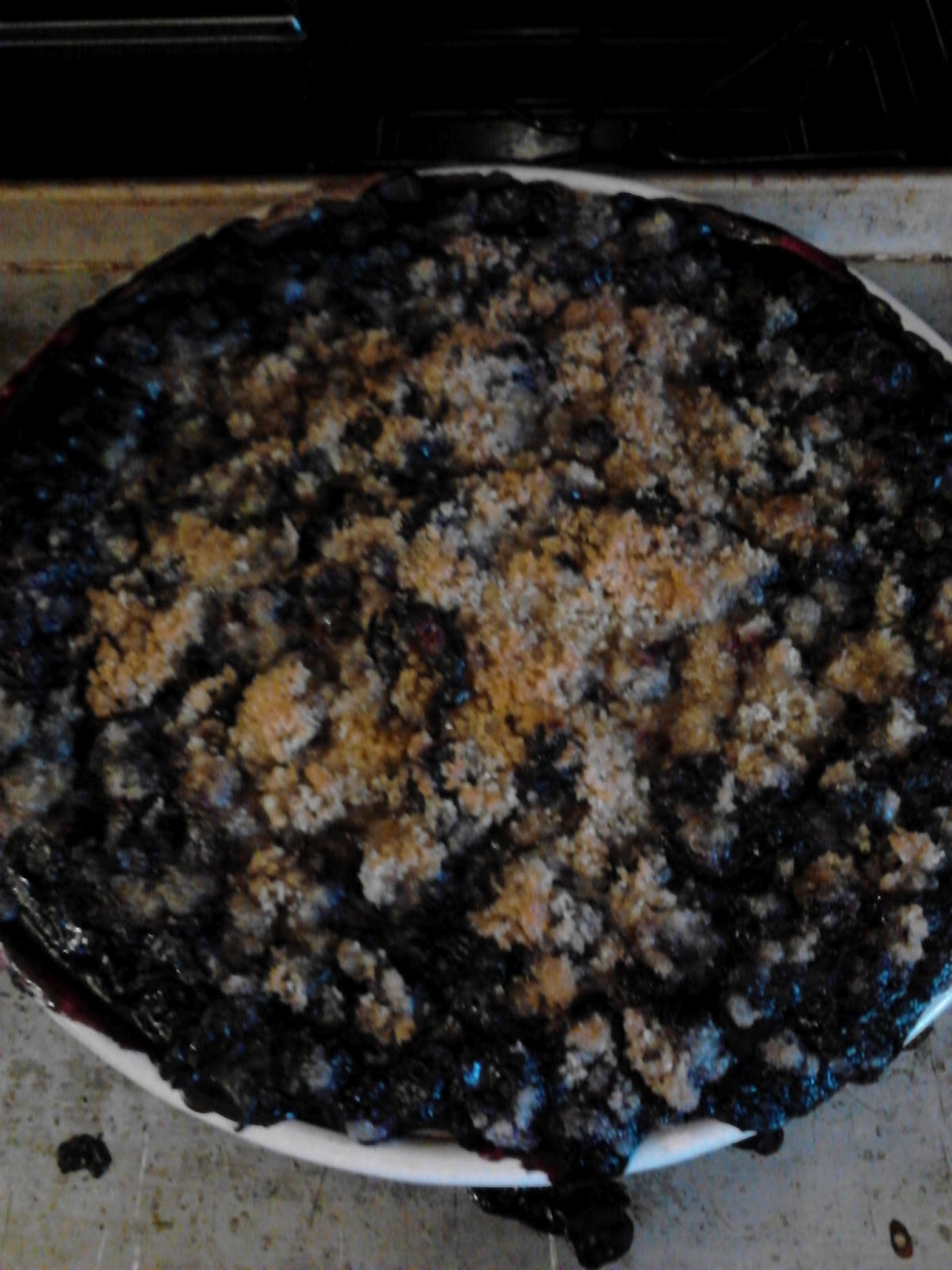 April's Country Life: Blueberry Crumble Pie