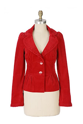 Anthropologie Corduroy Coed Jacket