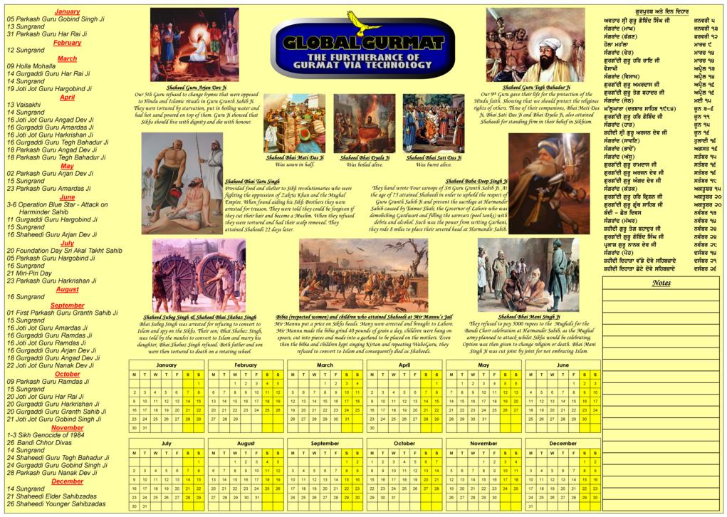 New+Jantri ... - Nanakshahi Calendar - Sikh Jantri - Sikh Events ~ Gur ...