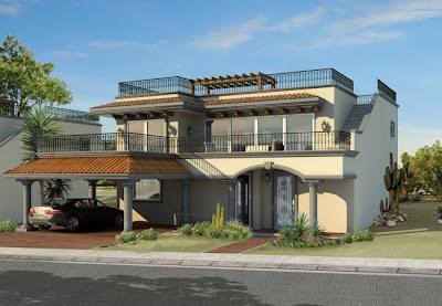Fachadas de casas modernas abril 2013 for Casas con balcon y terraza