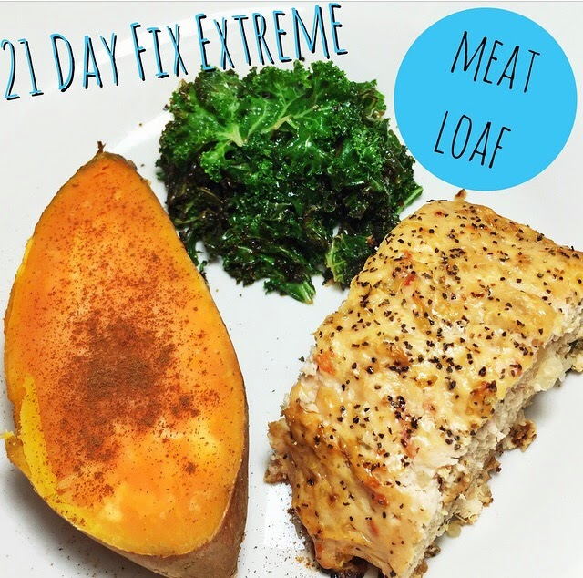 21 day fix extreme recipe, meat loaf, meal plan, meal prep